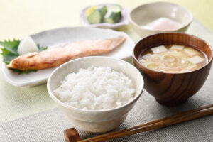 伝統的な日本の朝食